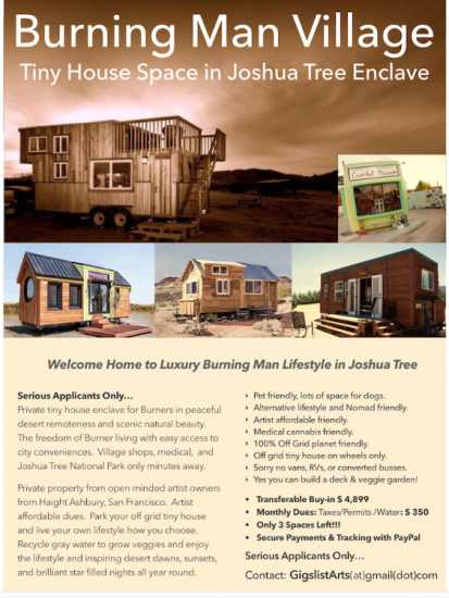 Burning Man Tiny House Village